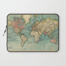 Adventure Awaits (World Map) Laptop Sleeve