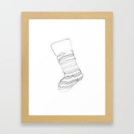 """""""Christmas Collection"""" - Minimal Christmas Stocking Print Framed Art Print"""