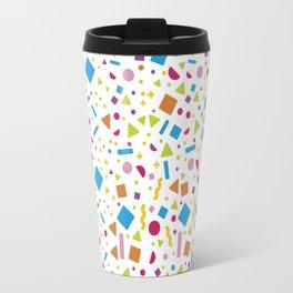Geometric Multicolor Background Travel Mug