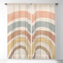 Retro Rainbow Sheer Curtain