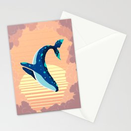 Sky Whale Stationery Cards