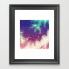 Rainbow Nebula (8bit) Framed Art Print