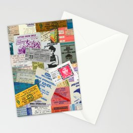 Concert Ticket Stub Backstage Passes - The Boss Stationery Cards