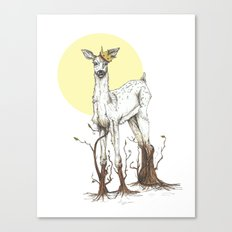 Doe Tree Canvas Print