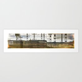 Distorted view from a train Art Print