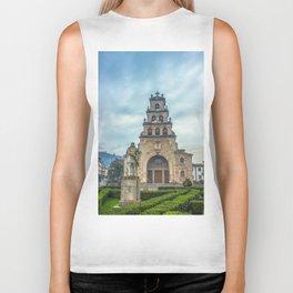 Statue of the King Pelayo and Santa Cruz chapel Biker Tank