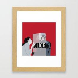 Red woman n3 Framed Art Print