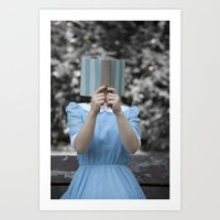 reading Art Prints featuring Reading by Maria Heyens