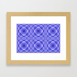 Purple and Blue Implosion Framed Art Print
