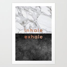 Inhale Exhale Copper Art Print