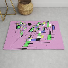Bad perspective - Abstract, vector, geometric, 3D style artwork Rug