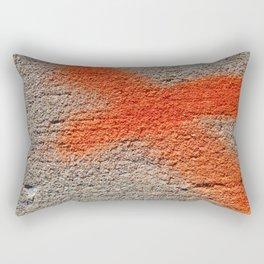 X on Concrete Rectangular Pillow