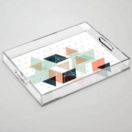 Midcentury geometric abstract nr 011 Acrylic Tray