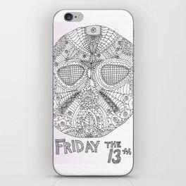 Hockey Mask Doodle iPhone Skin