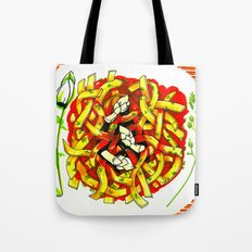 Linguine with asparagus Tote Bag