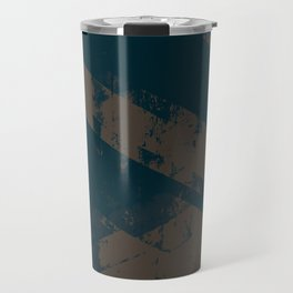 Abstract_Blue Travel Mug