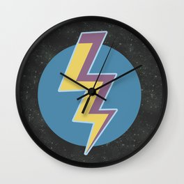 Thunder colors in the galaxy stars Wall Clock