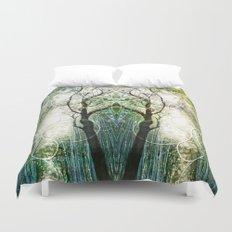 Bamboo Forest Geometry Duvet Cover