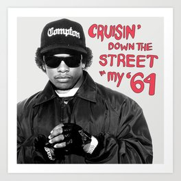 Cruisin' Down the Street in My 64 Art Print