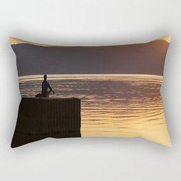 Meditation,lake, sunset, coast, poster,homedecor,gift, Rectangular Pillow