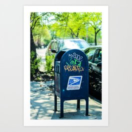 Astoria Mailbox Graffiti Art Print
