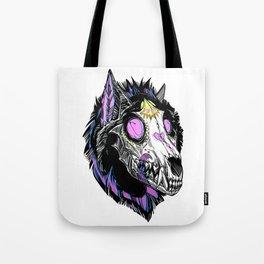 Hypnotic Wolf Skull Tote Bag