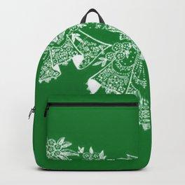 Vintage Lace Hankies Green Backpack