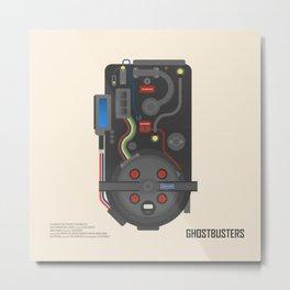 Ghostubsters poster, proton pack, BIll Murray, Dan Aykroyd, Harold Ramis, Peter Venkman, Egon Spengler, 80s movie Metal Print