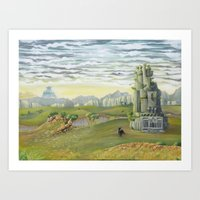 shadow of the colossus Art Prints featuring Shadow of the Colossus by mixedlies