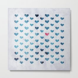 One Red Heart Metal Print