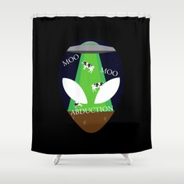 Moo Moo Abduction Shower Curtain