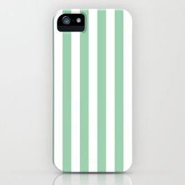 Mint Green Small Even Stripes iPhone Case