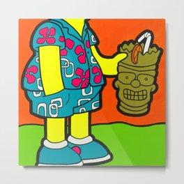 Ay Ca-Rum-ba! - bart pop art painting Metal Print