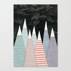 Pastel Peaks Canvas Print