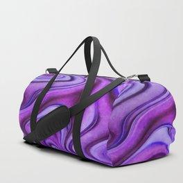 Violet wavy abstract Duffle Bag