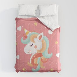 Cutest Unicorn Ever - Pink Comforters
