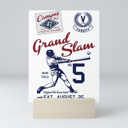 Varsity Baseball Team - Grand Slam Mini Art Print