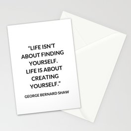 LIFE IS NOT ABOUT FINDING YOURSELF Stationery Cards