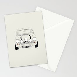 The Italian Job White Mini Cooper Stationery Cards