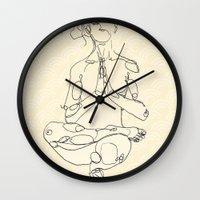 yoga Wall Clocks featuring Yoga by Timoismen