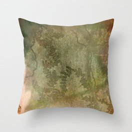 Snail trails on bark Throw Pillow