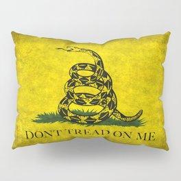 Gadsden Don't Tread On Me Flag - Worn Grungy Pillow Sham