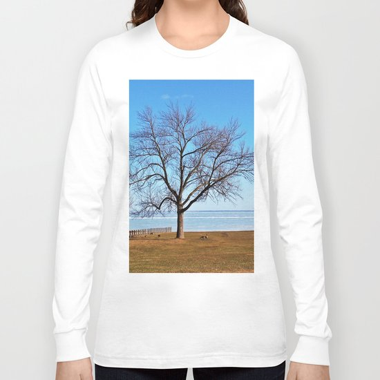 The Tree by the Frozen Lake Long Sleeve T-shirt