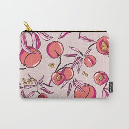 Orange watercolor Peach bloom tree  Carry-All Pouch