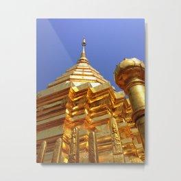 Doi Suthep Stupa Metal Print