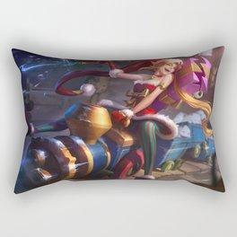Ambitious Elf Jinx League of Legends Rectangular Pillow