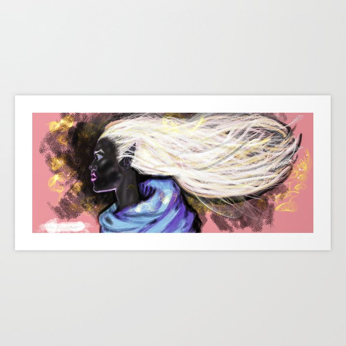 Ebony Fantasy Concept Art Print