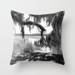 Isle of Hope River Throw Pillow
