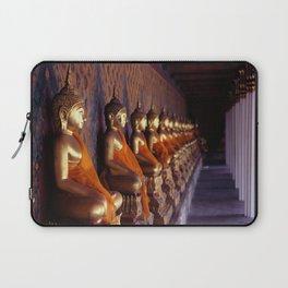 Ancient buddha satues. Wat Arun temple. Bangkok. Thailand. Laptop Sleeve