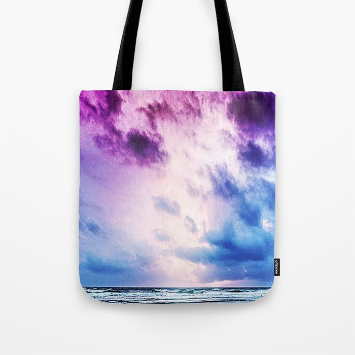 Cloudy shores Tote Bag